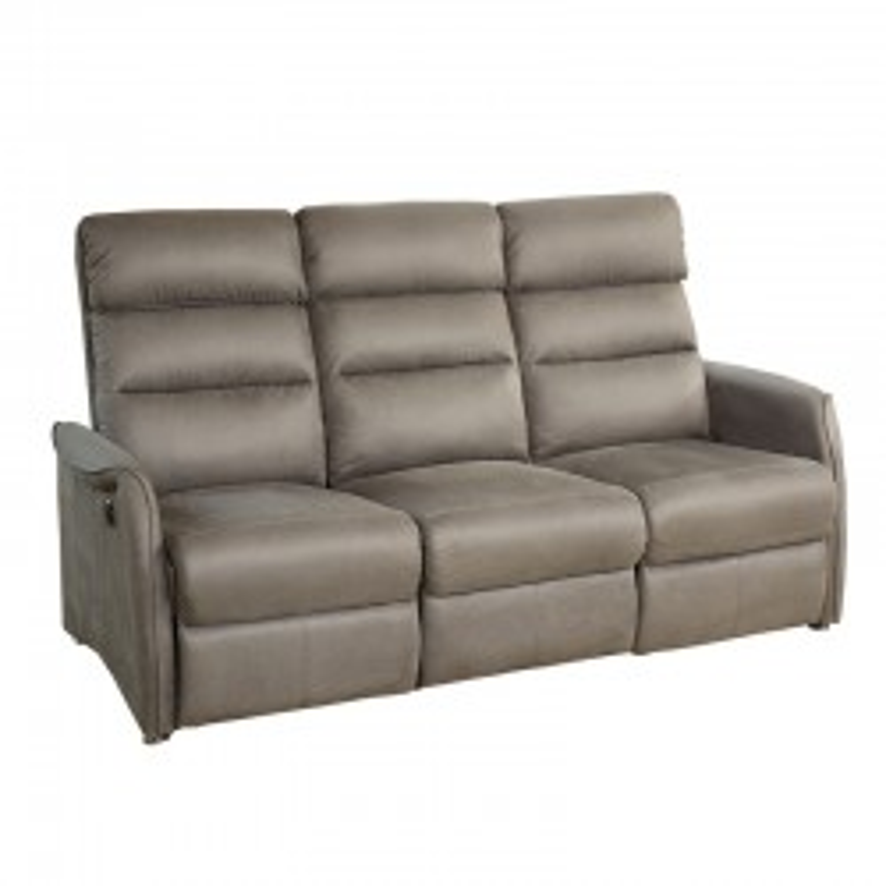 Canapé de Relaxation électrique 3 places Gris - SOFTY