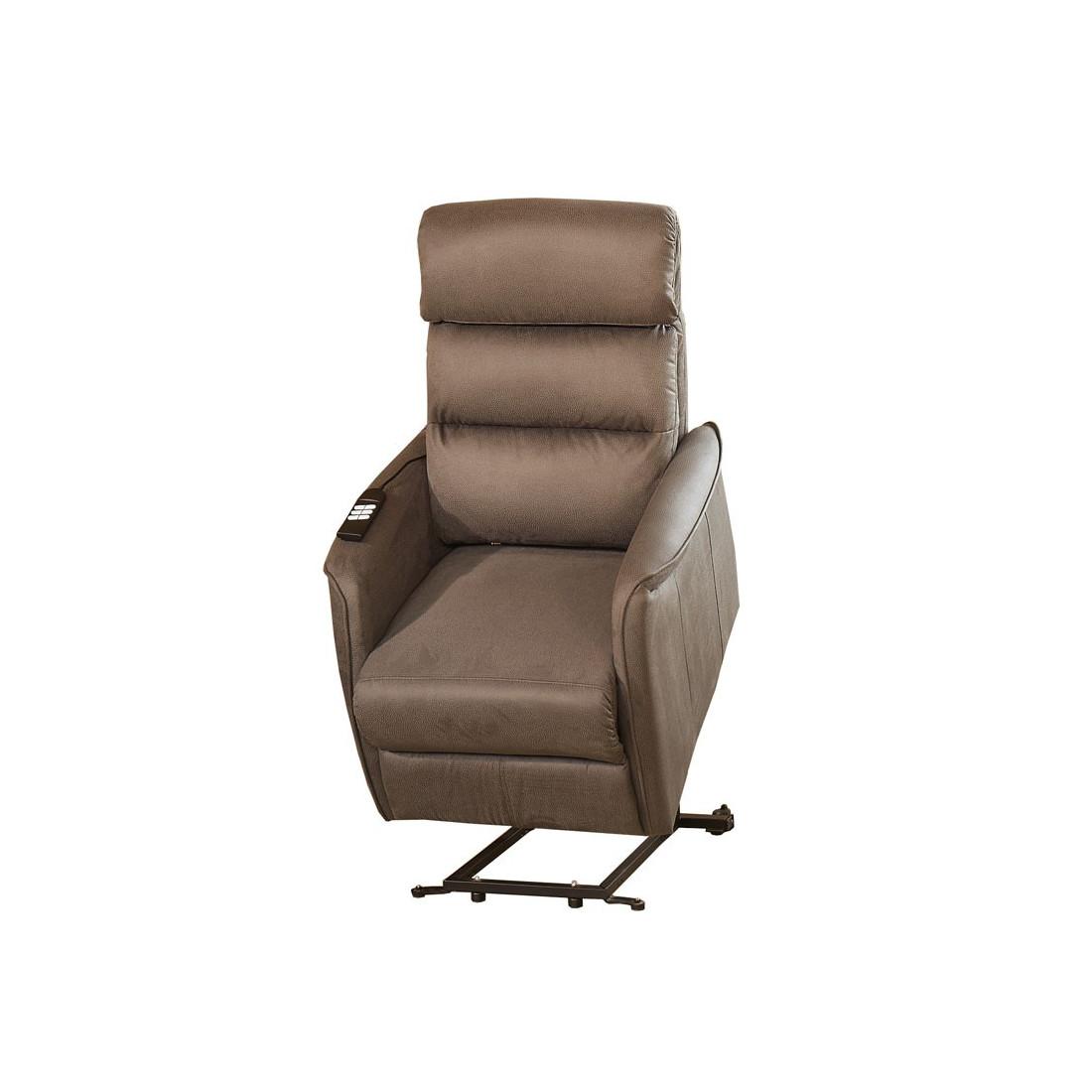 fauteuil relax releveur lec marron cendr univers salon. Black Bedroom Furniture Sets. Home Design Ideas