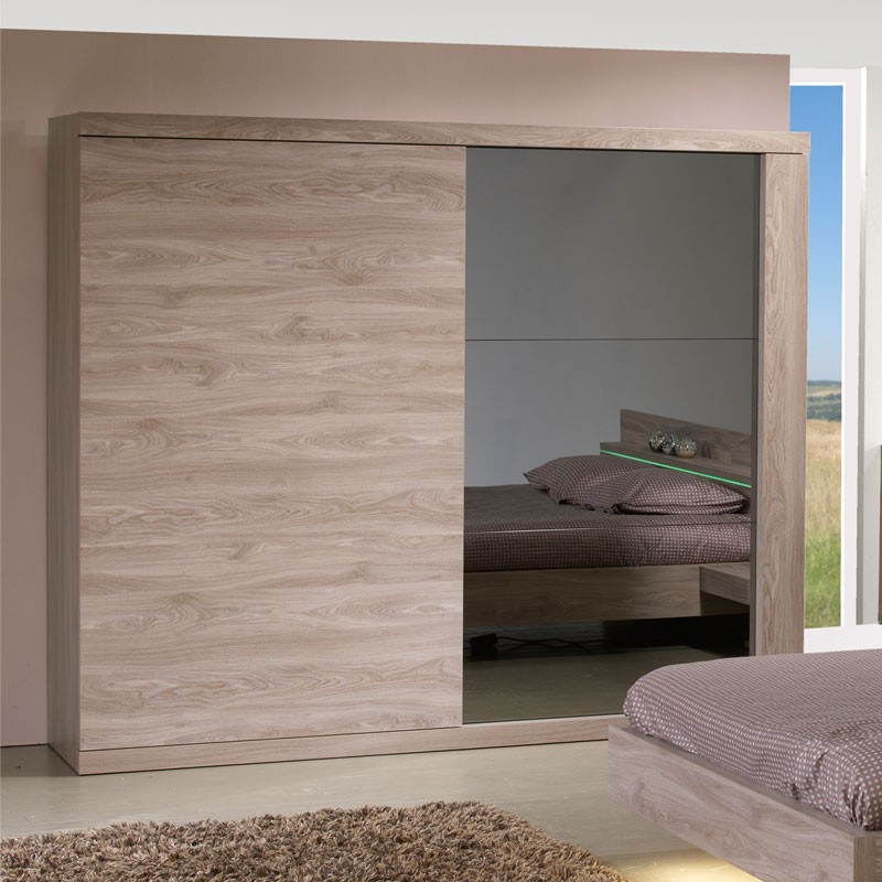 armoire 2 portes coulissantes 260 cm toulouse univers de la chambre. Black Bedroom Furniture Sets. Home Design Ideas