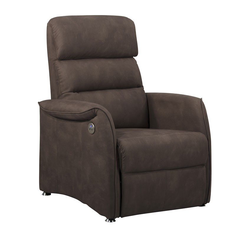 fauteuil relax lectrique brun taup softy univers salon. Black Bedroom Furniture Sets. Home Design Ideas