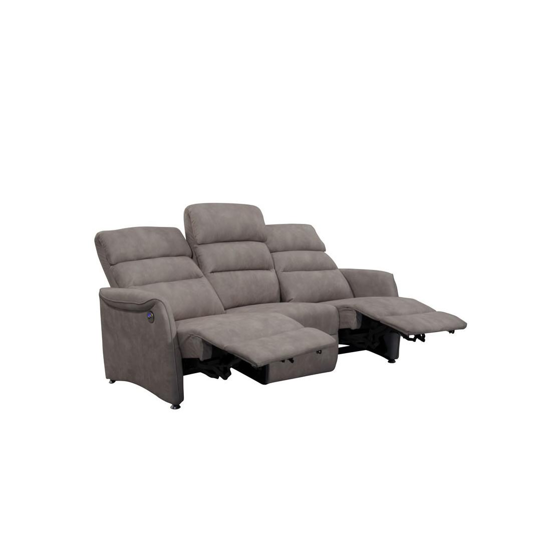 Canap de relax lectrique 3p mastic softy univers salon - Canape de relaxation electrique ...