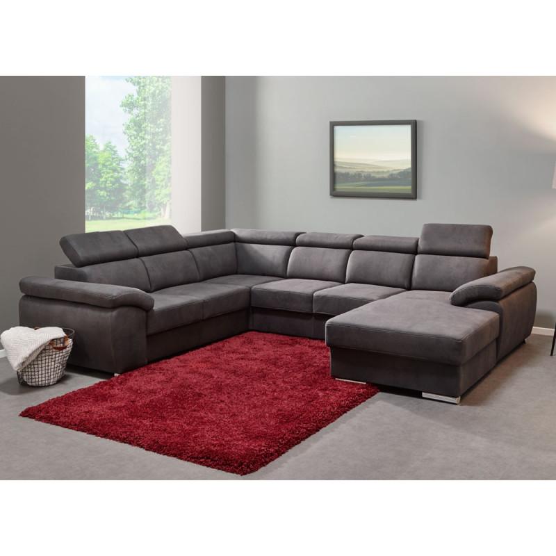 Canapé d'angle tissu moderne - Univers Salon et Assises : Tousmesmeubles