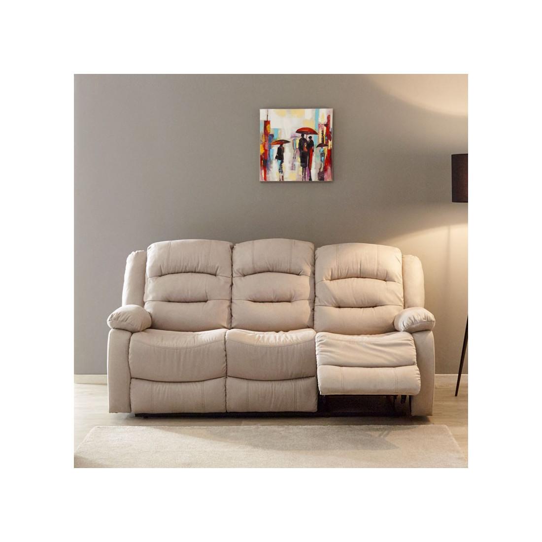 Salon complet 5 relax manuels tissu nerval univers du salon - Salon complet ...