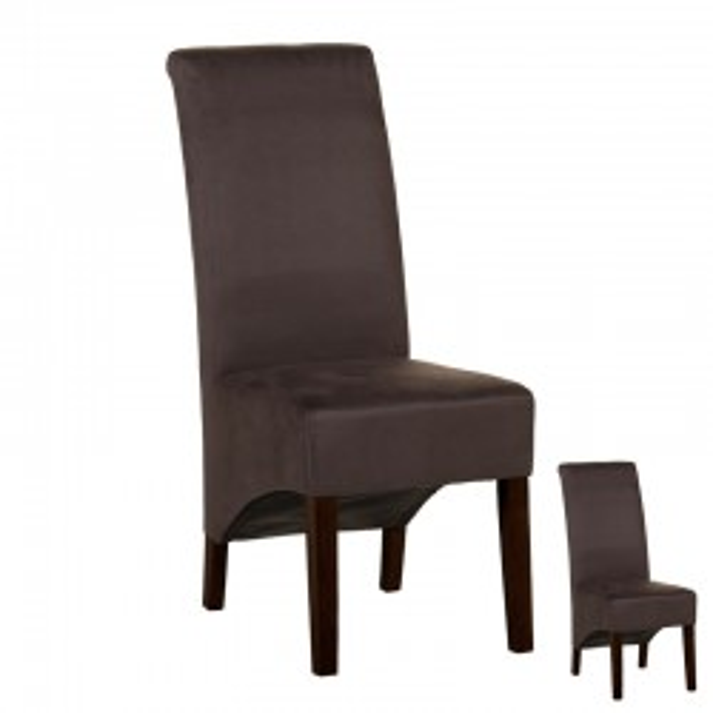 Duo de chaises tissu Gris foncé - Univers Assises et Salle à Manger : Tousmesmeubles