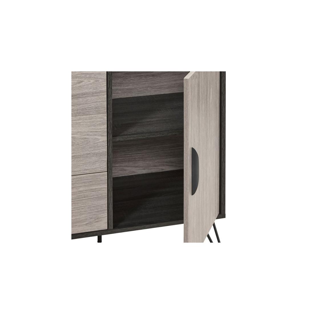 buffet 2 portes 3 tiroirs 200 cm lugano univers de la. Black Bedroom Furniture Sets. Home Design Ideas