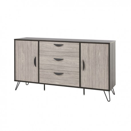 buffet 2 portes 3 tiroirs 150 cm lugano univers de la salle manger. Black Bedroom Furniture Sets. Home Design Ideas