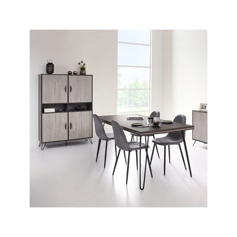 armoire de salon 4 portes 2 niches lugano univers salle manger. Black Bedroom Furniture Sets. Home Design Ideas