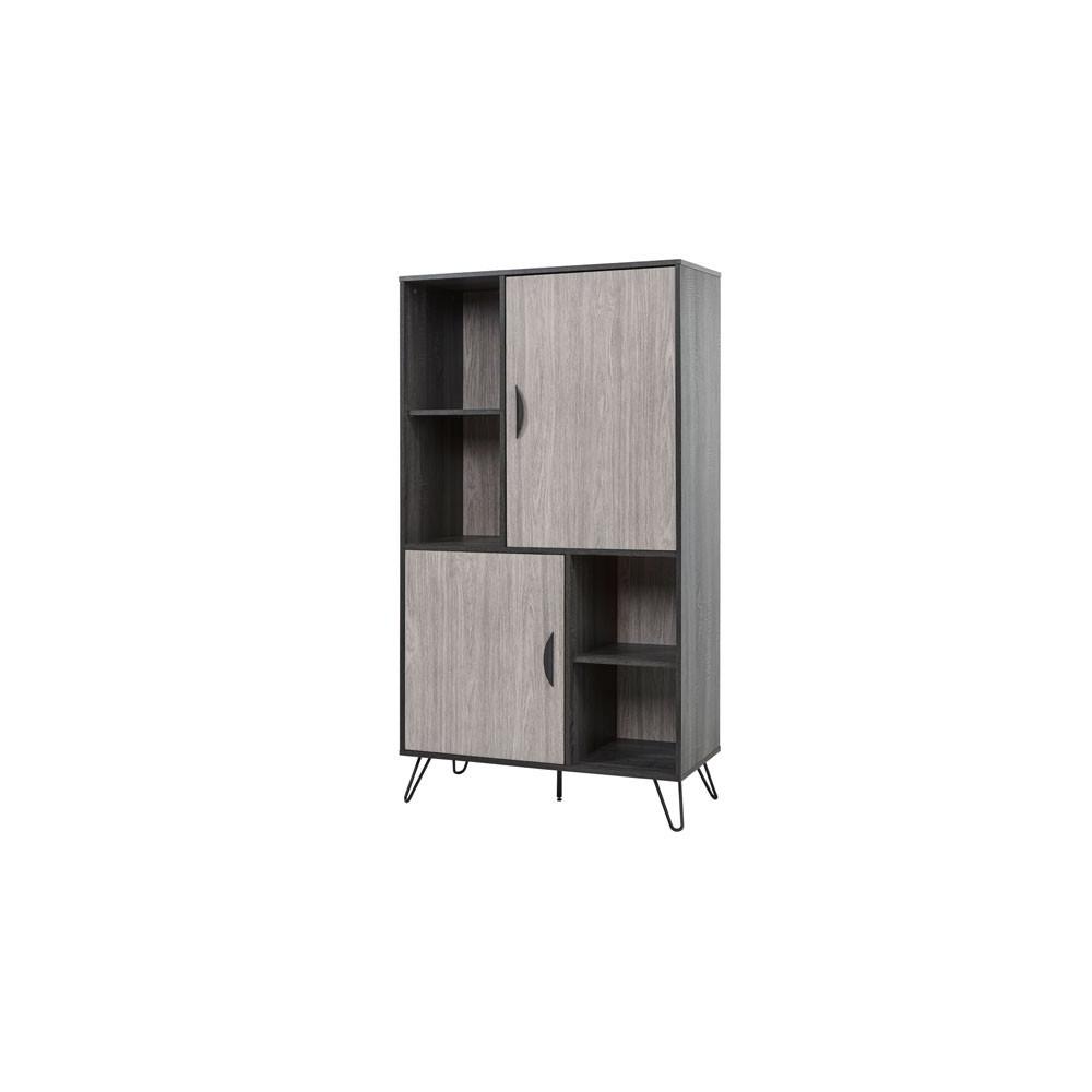 armoire de salon 2 portes 4 niches lugano univers salle manger. Black Bedroom Furniture Sets. Home Design Ideas