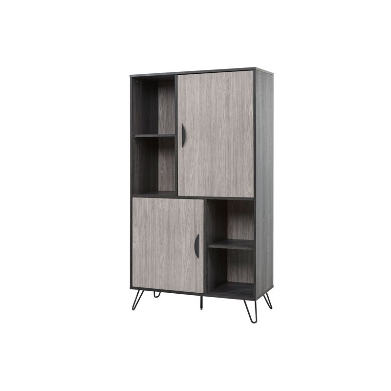 armoire de salon 2 portes 4 niches lugano univers salle. Black Bedroom Furniture Sets. Home Design Ideas