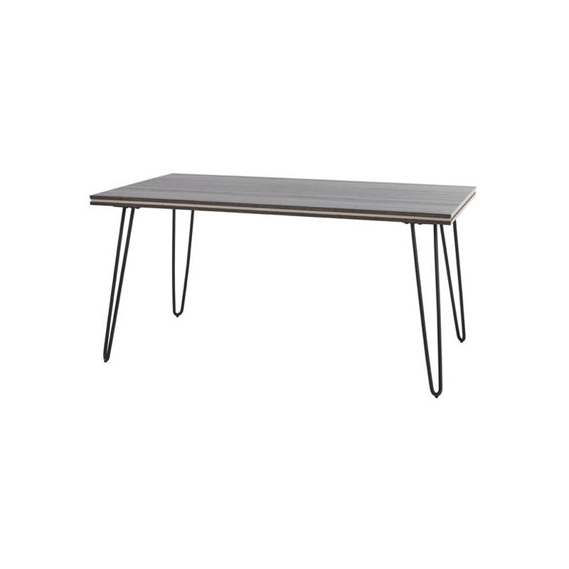 Table de repas 160 cm pieds épingles bois gris moderne - Univers Salle à Manger : Tousmesmeubles