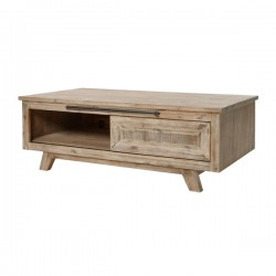 Table basse bois massif - Univers Salon : Tousmesmeubles