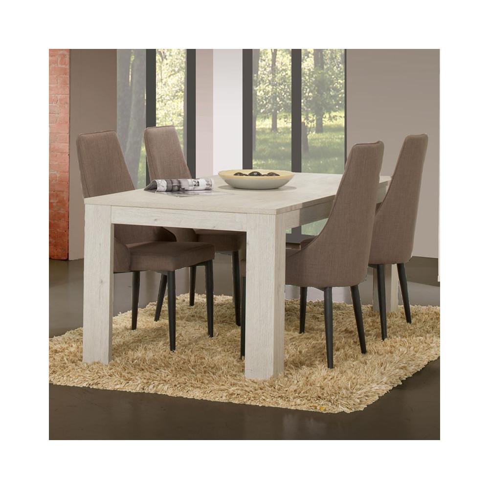 Table de repas 160 cm bois gris clair contemporain - Univers Salle à Manger : Tousmesmeubles
