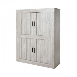 Bar 4 portes moderne bois gris clair - Univers Salon : Tousmesmeubles