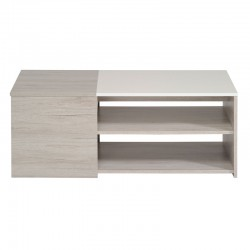 Table basse Gris/Blanc brillant - LEO