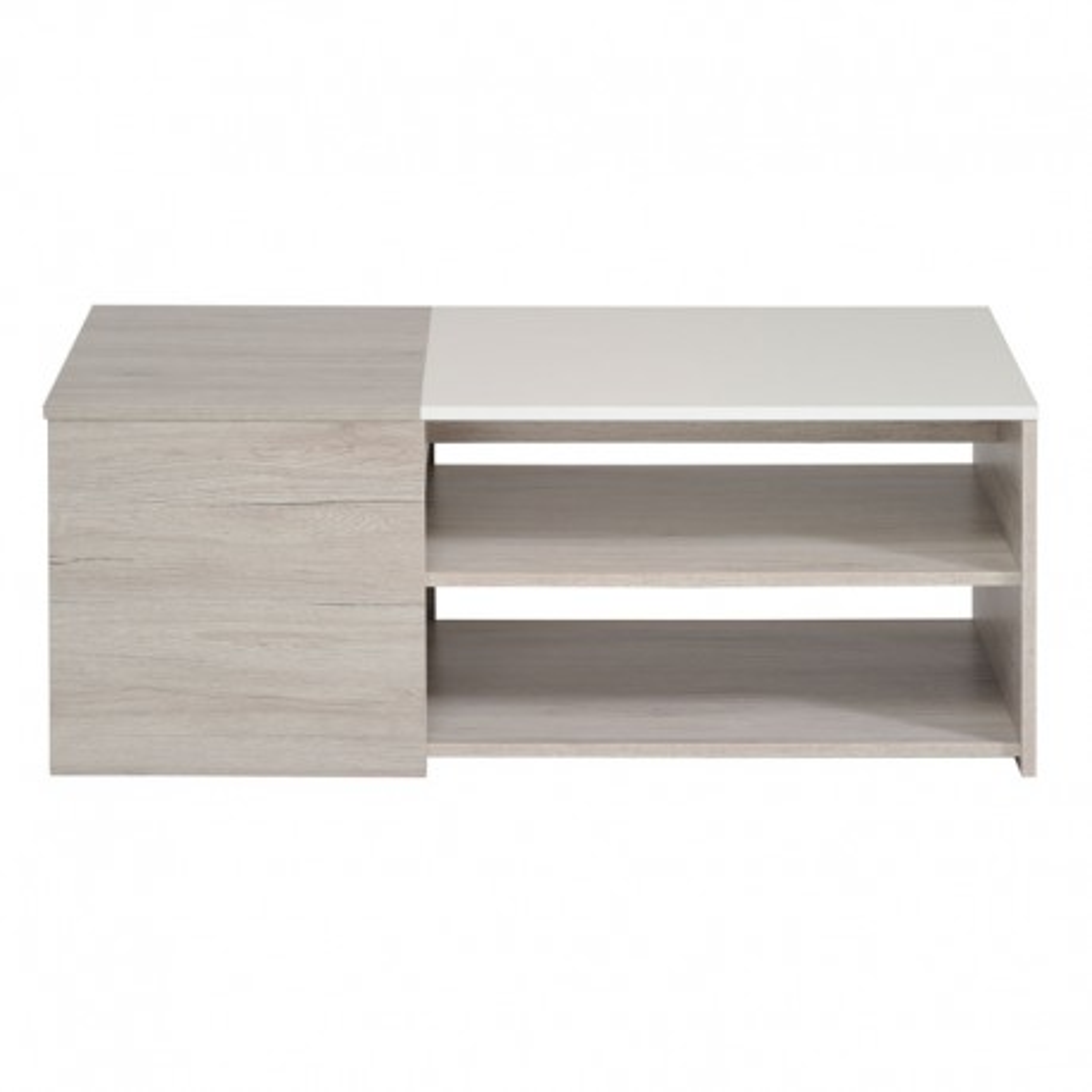 Table basse Gris/Blanc brillant - LEO