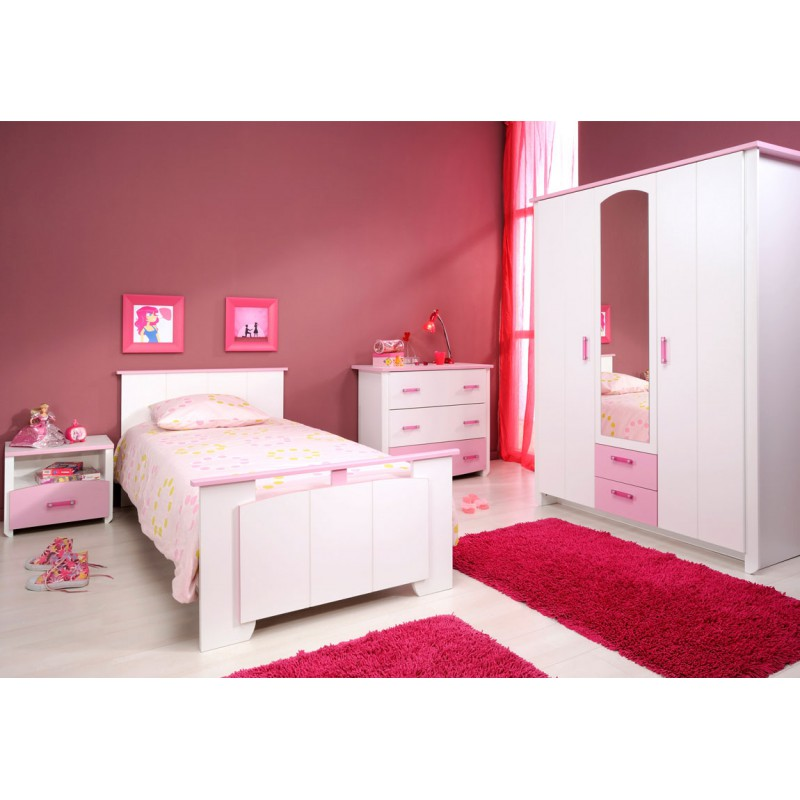 chambre enfant compl te 90 190 beauty univers de la chambre. Black Bedroom Furniture Sets. Home Design Ideas