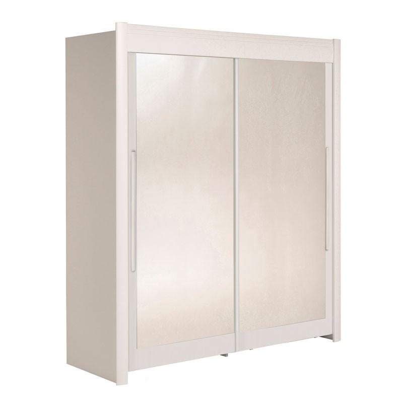Armoire dressing 2 portes 180 cm Blanc - JADE n°2