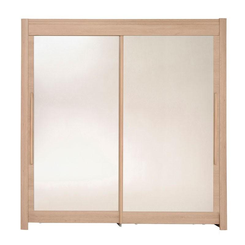 armoire dressing 2 portes 200 cm ch ne clair jade n 3. Black Bedroom Furniture Sets. Home Design Ideas