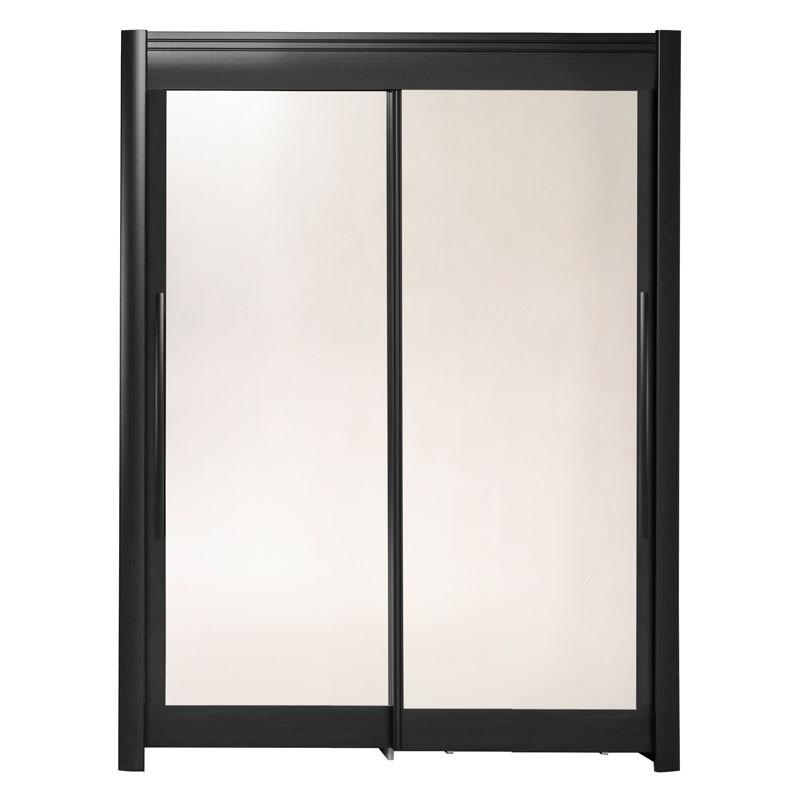 Armoire dressing 2 portes 160 cm Noir - JADE n°1 PAS FINIT !!!!!!!!!!!!
