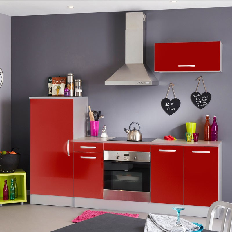ensemble meubles de cuisine rouge brillant salsy n 4 cuisine. Black Bedroom Furniture Sets. Home Design Ideas