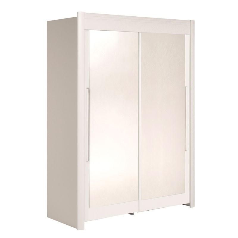 Armoire dressing 2 portes 160 cm Blanc - JADE n°1