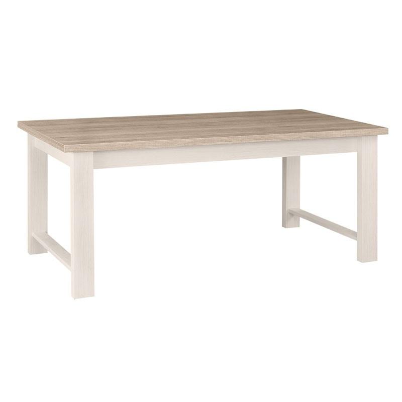 Table de repas rectangulaire bois blanchi - Univers Salle à Manger : Tousmesmeubles