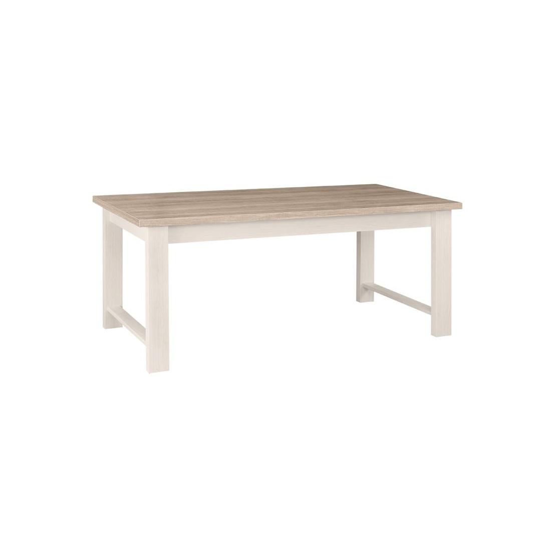Table de repas rectangulaire Frêne Blanchi POMPEI