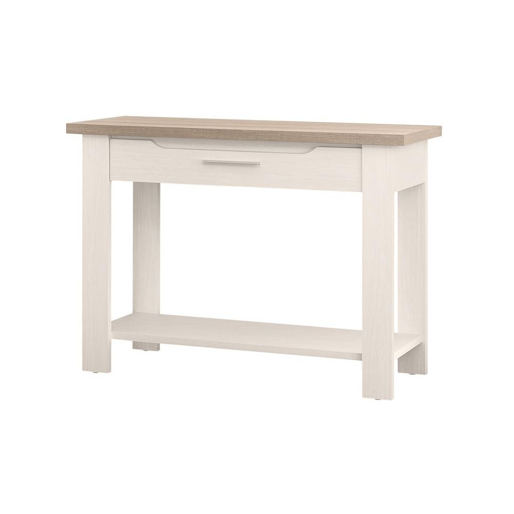 Console 1 tiroir bois blanchi - Univers Petits Meubles : Tousmesmeubles