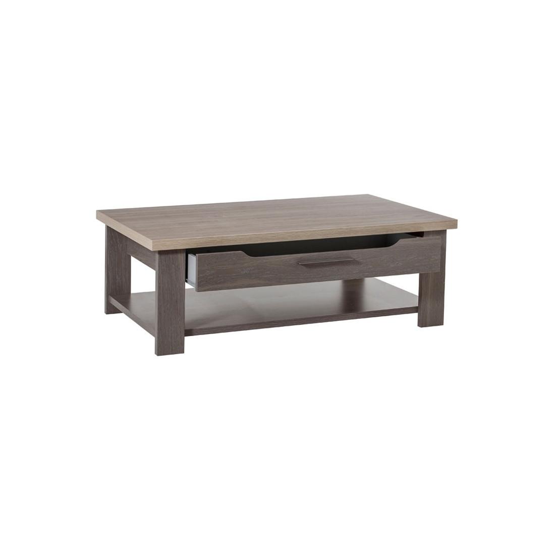 table basse 1 tiroir ch ne c rus pompei univers du salon. Black Bedroom Furniture Sets. Home Design Ideas