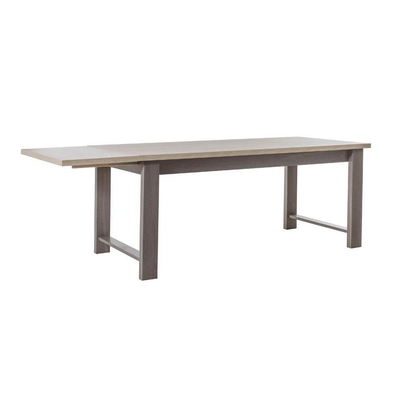 Table de repas à allonge Chêne Gris Cérusé - POMPEI