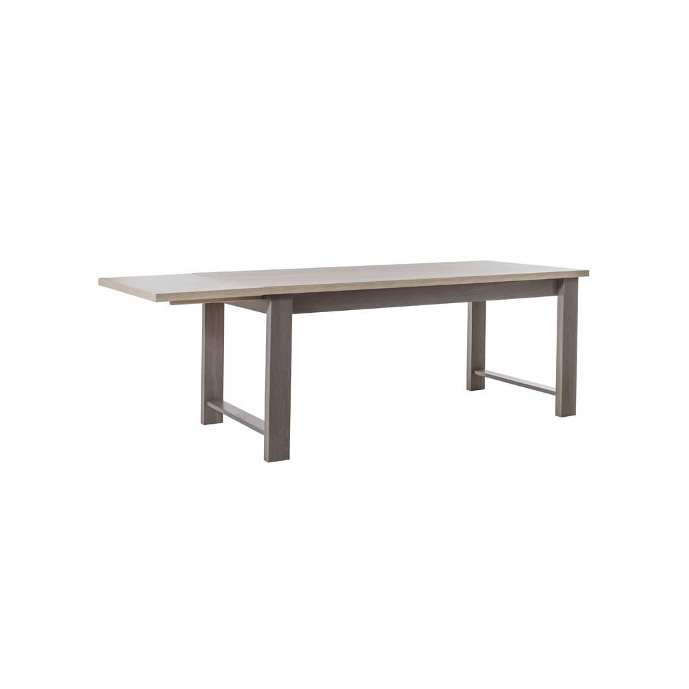 Table de repas à allonge bois gris campagne - Univers Salle à Manger : Tousmesmeubles