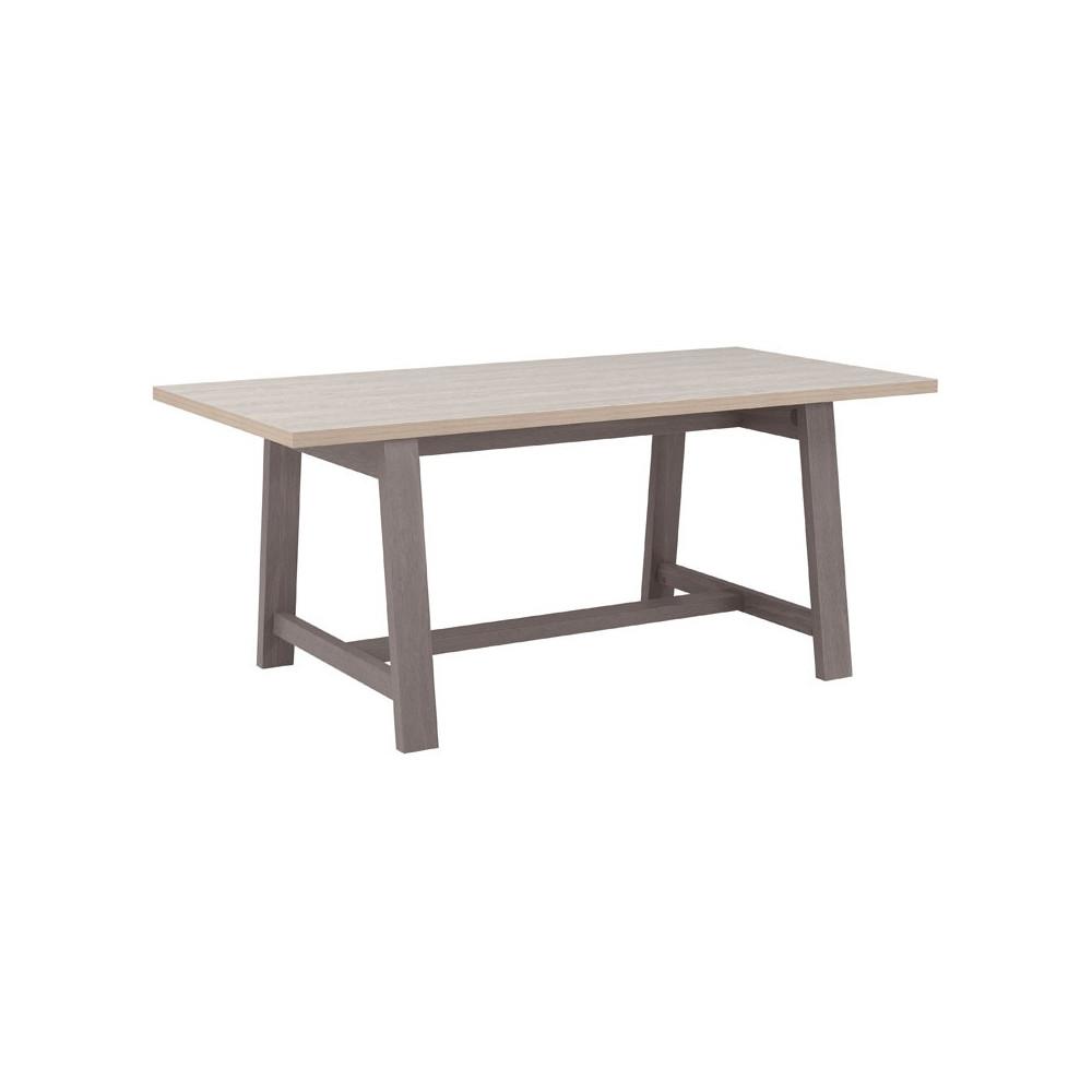 Table de repas bois gris campagne - Univers Salle à Manger : Tousmesmeubles