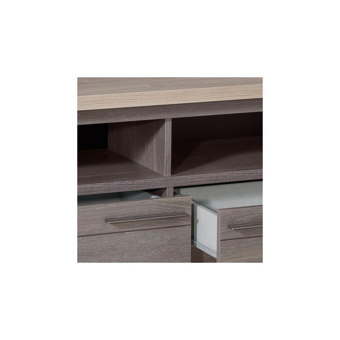 meuble tv 2 tiroirs 2 niches ch ne c rus pompei univers du salon. Black Bedroom Furniture Sets. Home Design Ideas