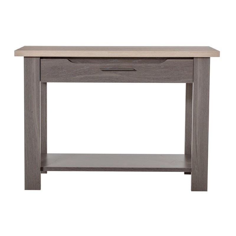 Console 1 tiroir campagne bois gris - Univers Campagne : Tousmesmeubles