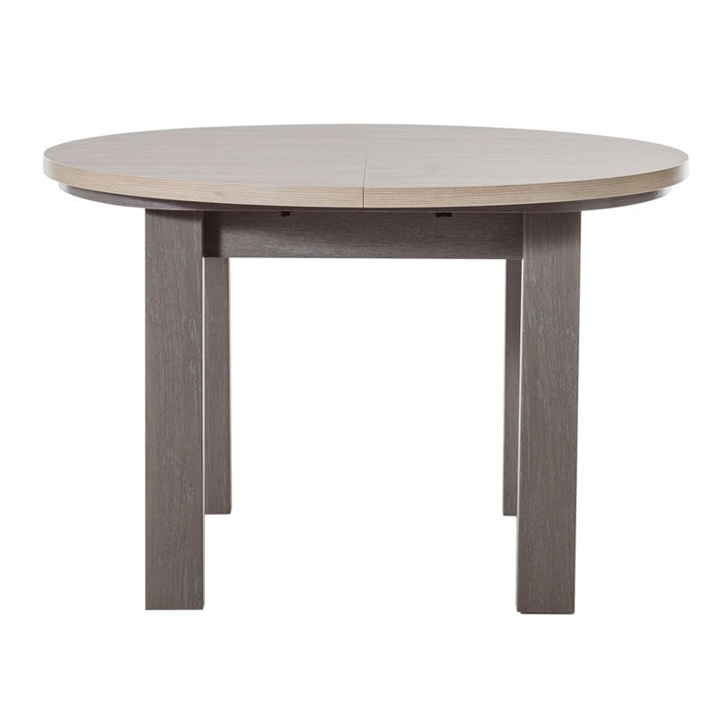 Salle manger compl te ch ne gris c rus pompei for Salle a manger complete table ronde