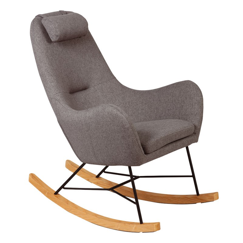 Rocking Chair Gris MEANS