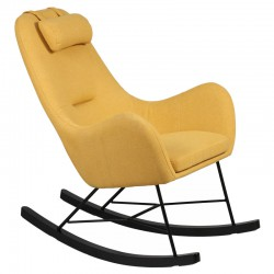 Rocking Chair Jaune contemporain MEANS - Univers Salon et Assises : Tousmesmeubles