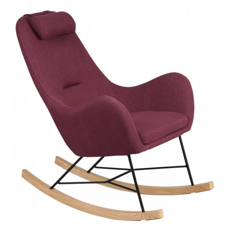 Rocking Chair Prune moderne MEANS - Univers Salon et Assises : Tousmesmeubles