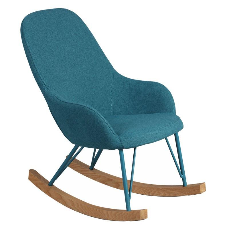 Rocking Chair Enfant Turquoise design KIDMEANS - Univers Salon et Assises : Tousmesmeubles