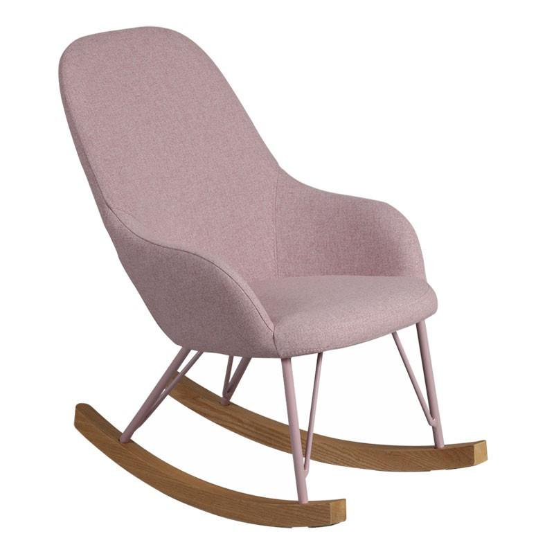 Rocking Chair Enfant Rose contemporain KIDMEANS - Univers Salon et Assises : Tousmesmeubles