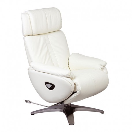 fauteuil de relaxation cuir blanc vegas univers salon et assises. Black Bedroom Furniture Sets. Home Design Ideas