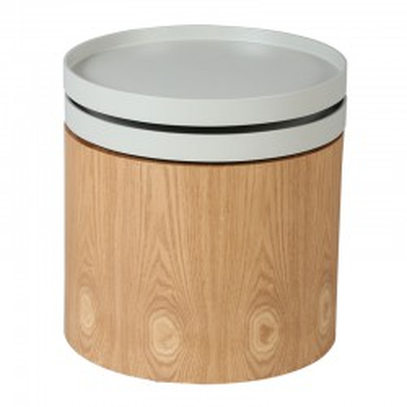 Bout de canapé Bois/Gris - FLIKS