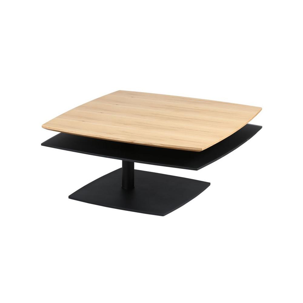 Table Basse à Plateaux Extensibles Boisnoir Flamb Univers Du Salon