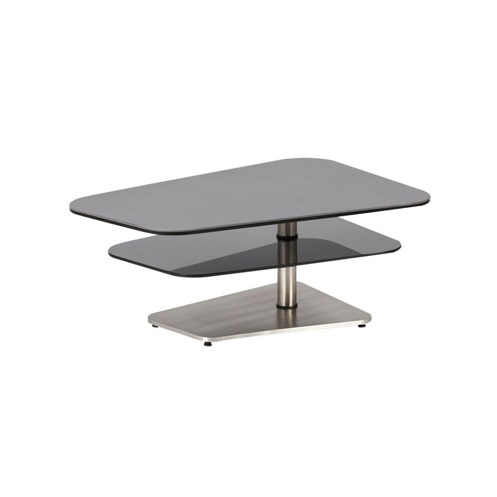 Table basse Verre/Métal moderne - Univers Salon : Tousmesmeubles
