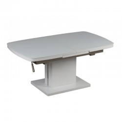 Table basse relevable extensible blanche - Univers Salon : Tousmesmeubles