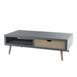 Table basse 2 tiroirs 1 niche - LOLIE
