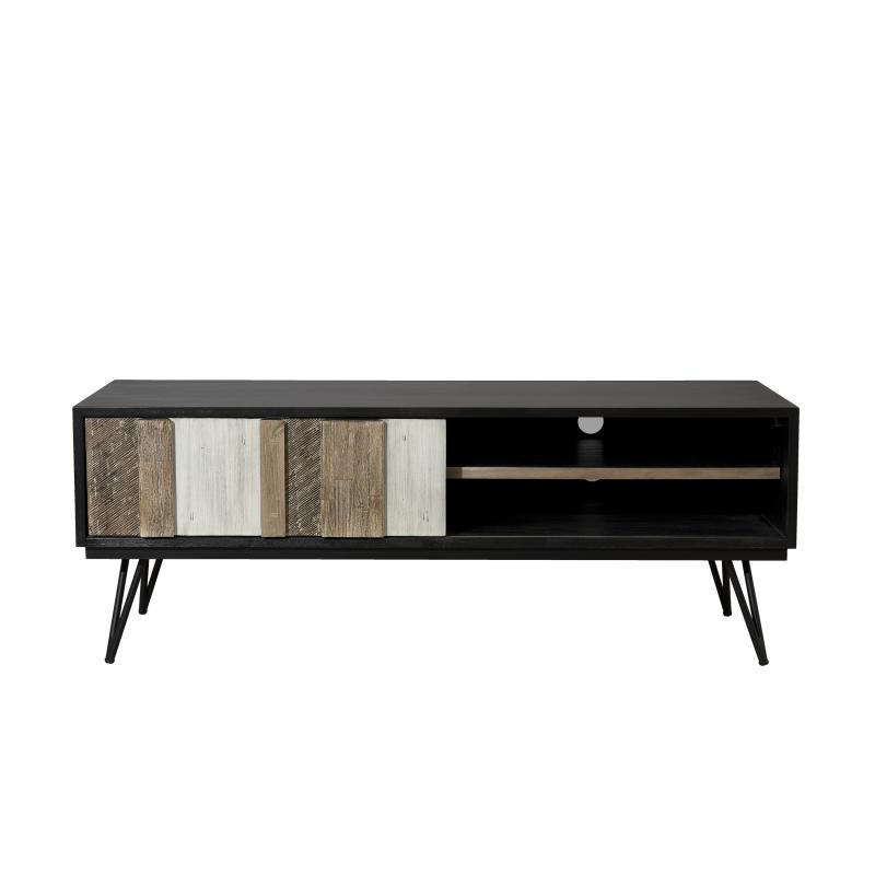 meuble tv 1 porte coulissante 2 niches cally univers du salon. Black Bedroom Furniture Sets. Home Design Ideas