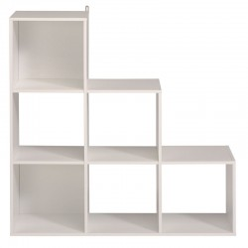 Etagère escalier cube 6 cases Blanc - FELIX n°1
