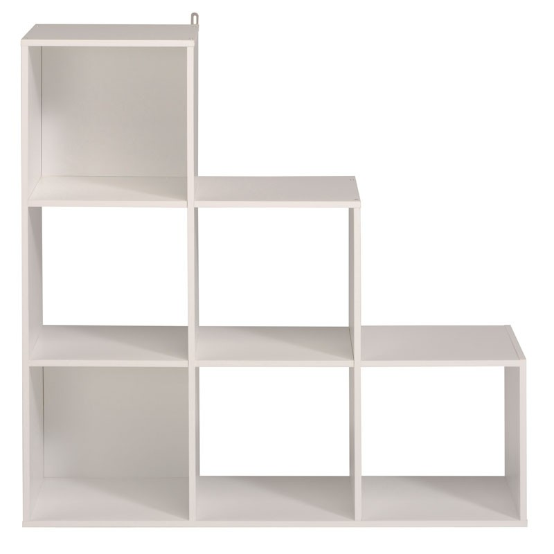 Tag re escalier cube 6 cases blanc felix n 1 univers du - Etagere escalier blanc ...