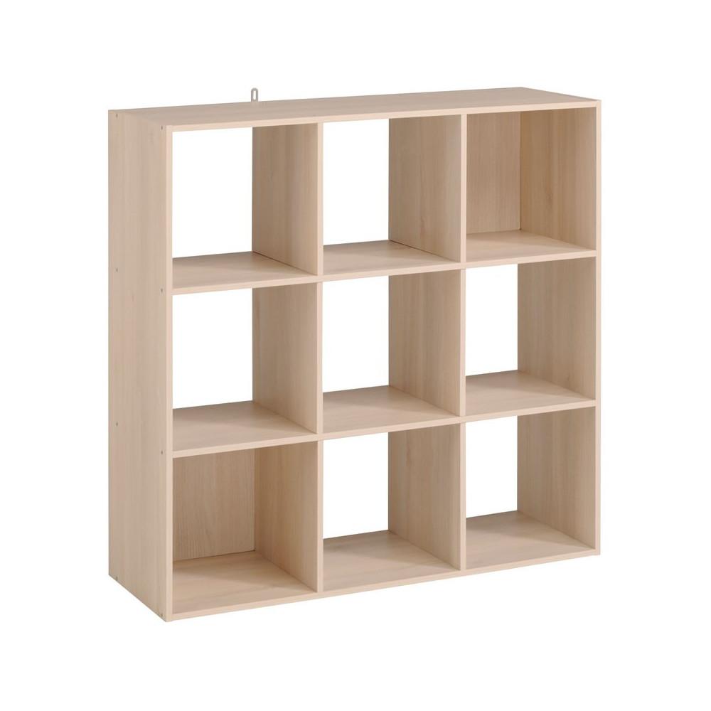 Etagère cube 9 cases Acacia - FELIX n°3
